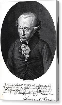 Portrait Of Emmanuel Kant  Canvas Print by German School