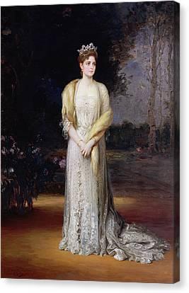 Portrait Of Empress Alexandra Fyodorovna, 1914 Oil On Canvas Canvas Print