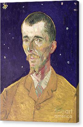 Portrait Of Eugene Boch Canvas Print by Vincent Van Gogh