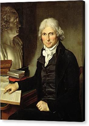 Portrait Of Francois Xavier Bichat 1771-1802 Canvas Print by Pierre Maximilien Delafontaine