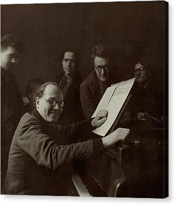 Portrait Of French Composer Olivier Messiaen Canvas Print by Horst P. Horst