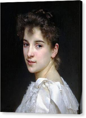 Portrait Of Gabrielle Cot Canvas Print