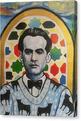 Portrait Of Garcia Lorca Canvas Print