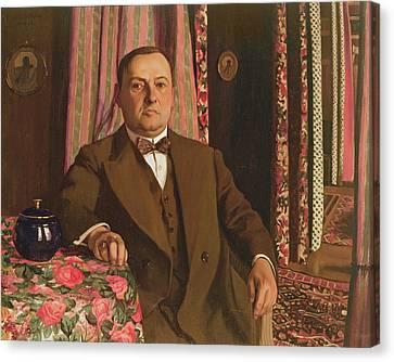 Portrait Of Georg E. Haasen, 1913 Oil On Canvas Canvas Print by Felix Edouard Vallotton