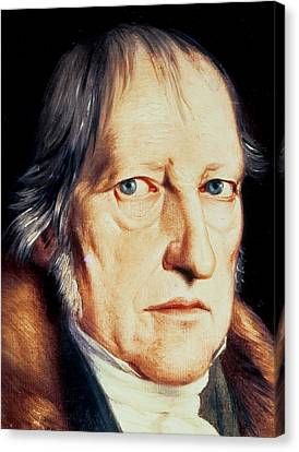 Cravat Canvas Print - Portrait Of Georg Wilhelm Friedrich Hegel by Jacob Schlesinger