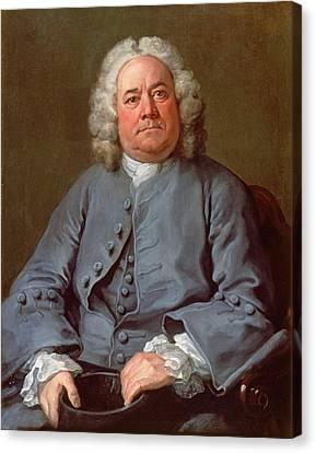 Portrait Of George Arnold Esq. Of Ashby Canvas Print by William Hogarth