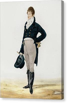Portrait Of George Beau Brummell Canvas Print