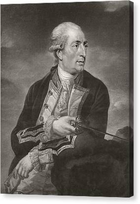 Portrait Of George Farmer Captain Canvas Print by Charles Grignion