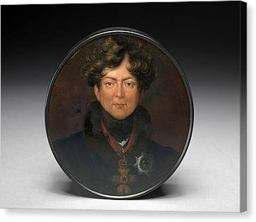 Portrait Of George Iv, After Sir Thomas Lawrence Painted Canvas Print by Litz Collection