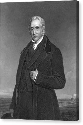Portrait Of George Stephenson Canvas Print by Underwood Archives