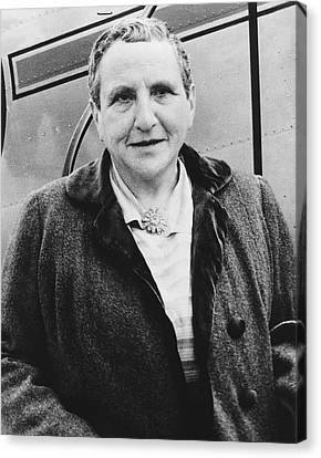 Portrait Of Gertrude Stein Canvas Print by Underwood Archives