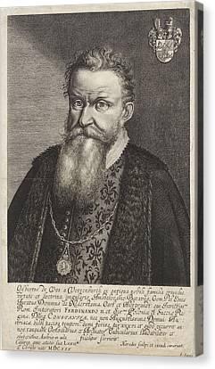 Portrait Of Gijsbertus De Vos Van Vossenburch Canvas Print