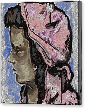 Portrait Of Girl Pog1 Canvas Print by Pemaro