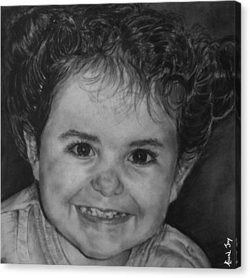 Portrait Of Giulia Canvas Print by Arual Jay