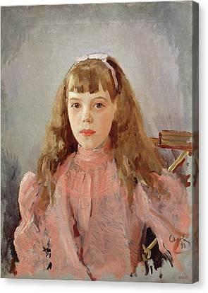 Portrait Of Grand Duchess Olga Alexandrovna 1882-1960 1893 Oil On Canvas Canvas Print by Valentin Aleksandrovich Serov