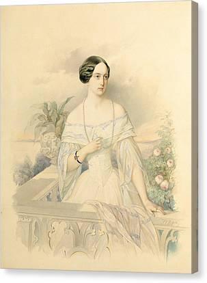 Haus Canvas Print - Portrait Of Grand Duchess Olga Nikolaevna by Vladimir Ivanovich Hau