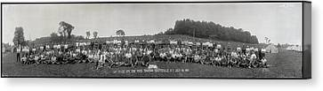 Fayetteville Canvas Print - Portrait Of Group Of People At Camp by Fred Schutz Collection