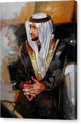 Portrait Of Hamdan Bin Mohammad Bin Rashid Al Maktoum 2 Canvas Print by Maryam Mughal