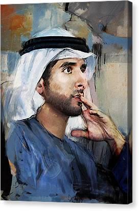 Portrait Of Hamdan Bin Mohammad Bin Rashid Al Maktoum Canvas Print by Maryam Mughal