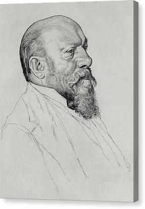 Portrait Of Hans Richter Canvas Print by William Strang