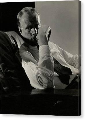 Portrait Of Harry Sinclair Lewis Canvas Print by Edward Steichen