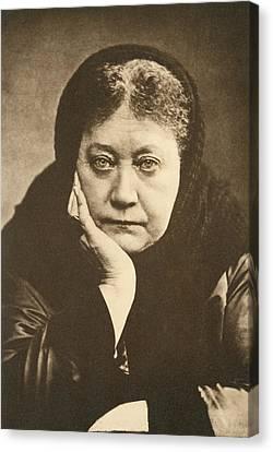 Portrait Of Helena Blavatsky Canvas Print