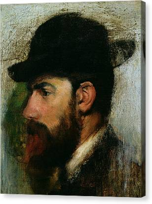 Portrait Of Henri Rouart Canvas Print by Edgar Degas