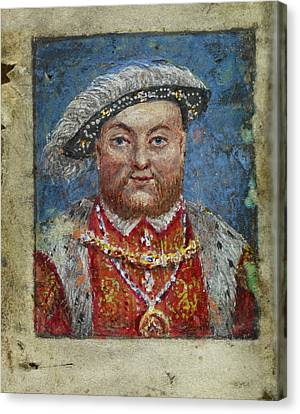 Portrait Of Henry Viii Canvas Print by British Library
