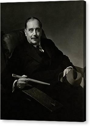 Portrait Of Herbert George Wells Canvas Print by Edward Steichen