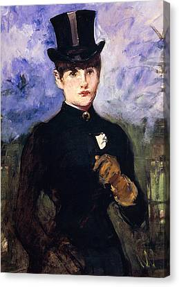 Masters Winners Canvas Print - Portrait Of Horsewoman by Edouard Manet