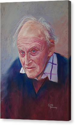 Portrait Of Hubert Miller Canvas Print by Lynda Robinson