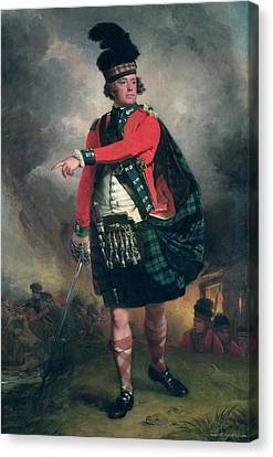 Portrait Of Hugh Montgomerie, 12th Earl Of Eglinton 1739-1819 C.1780 Oil On Canvas Canvas Print