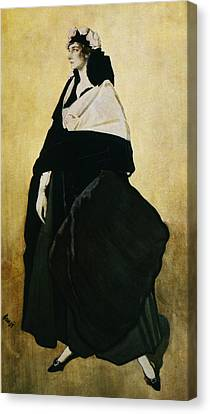Portrait Of Ida Lvovna Rubinstein Canvas Print by Leon Bakst