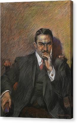 Boccioni Canvas Print - Portrait Of Innocenzo Massimino by Umberto Boccioni
