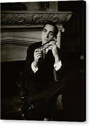 Portrait Of Irving Berlin Canvas Print by Florence Vandamm