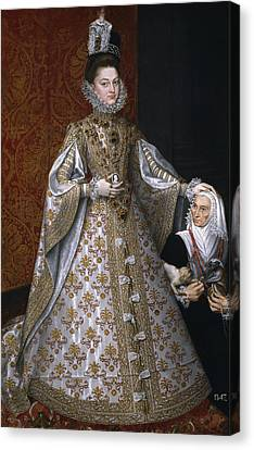 Ruiz Canvas Print - Portrait Of Isabel Clara Eugenia And Magdalena Ruiz by Alonso Sanchez Coello