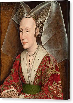 Portrait Of Isabella Of Portugal Canvas Print