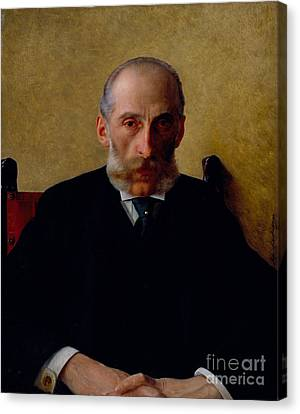 Portrait Of Isidor Gewitsch Canvas Print by Celestial Images