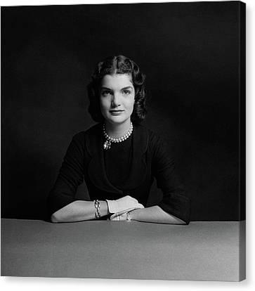 Portrait Of Jacqueline Bouvier Canvas Print