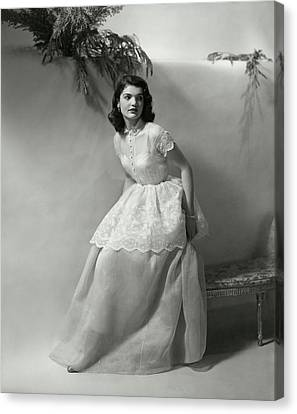 Full Skirt Canvas Print - Portrait Of Jacqueline Kennedy Onassis by Frances McLaughlin-Gill