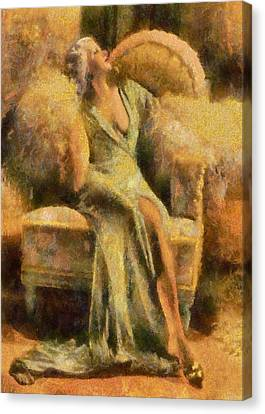 Portrait Of Jean Harlow Canvas Print