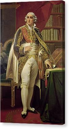 Portrait Of Jean-jacques-regis De Cambaceres 1753-1824 Oil On Canvas Canvas Print by Henri-Frederic Schopin