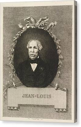 Portrait Of Jean-louis Canvas Print by British Library