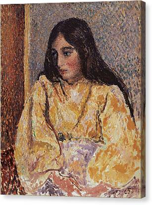 Youthful Canvas Print - Portrait Of Jeanne, Circa 1893 by Camille Pissarro