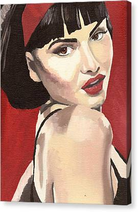 Portrait Of Jenny Bauer Canvas Print