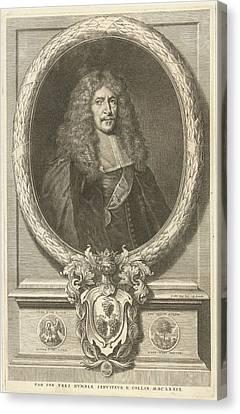 Portrait Of Joachim Von Sandrart, Richard Collin Canvas Print