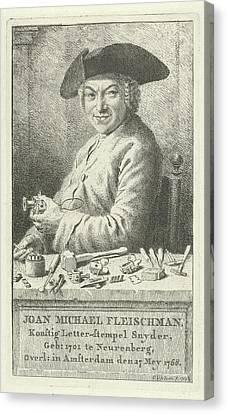 Portrait Of Joan Michael Fleischman, Cornelis Van Noorde Canvas Print by Quint Lox