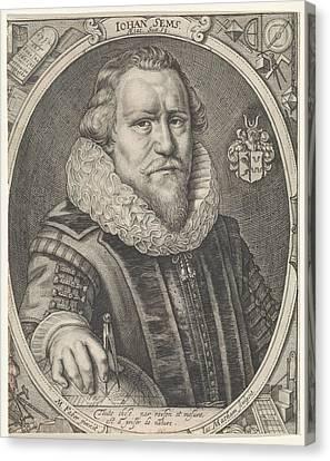 Portrait Of Johan Sems, Jacob Matham Canvas Print
