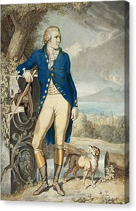 Portrait Of Johann Wolfgang Von Goethe In The Country  Canvas Print by Johann Heinrich Wilhelm Tischbein