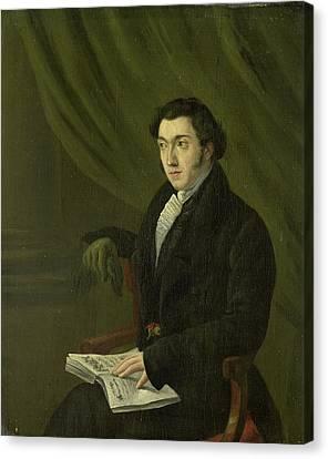 Portrait Of Johannes Petrus Schouburg, Stamp Engraver Canvas Print by Litz Collection